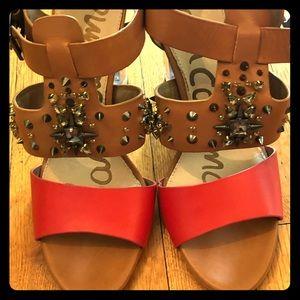 Sam Edelman heeled sandals never worn